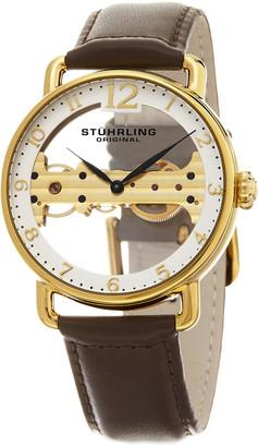 Stuhrling Original Original Men's Brown Leather Watch