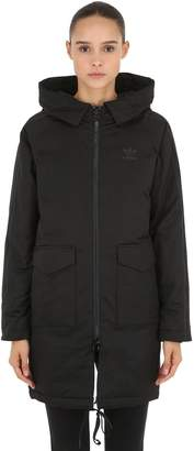 adidas Hooded Cotton Twill Down Parka