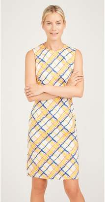 J.Mclaughlin Devon Sleeveless Dress in Chalk Plaid