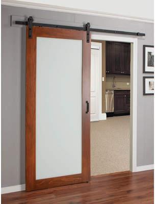URBAN RESEARCH Erias Home Designs Continental MDF Eingineered Wood 1 Panel Interior Barn Door