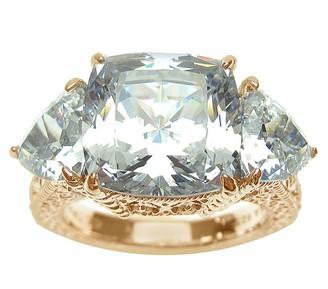 Judith Ripka Sterling & 14K Clad 3-Stone Diamonique Ring