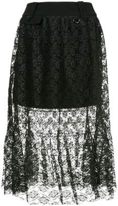 Three floor lace skirt