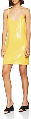 Glamorous Women's HP0241 Dress, (Yellow Sequin B), (Size: S)