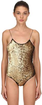 Sequined One Piece Swimsuit
