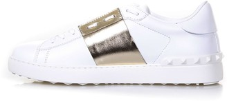 Valentino Open Low-top White & Platinum Leather Sneakers