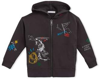 Burberry Adventure Print Zip-up Hoodie