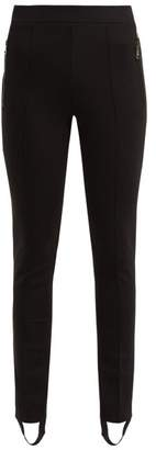 Moncler 2 1952 - Stirrup Hem Jersey Leggings - Womens - Black