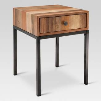 Threshold Hernwood Mixed Material Side Table - Brown