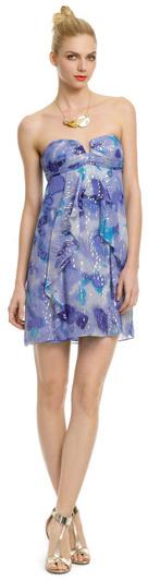 Nicole Miller Blue Moonlight Dress
