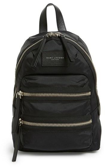 Marc Jacobs 'Mini Biker' Nylon Backpack - Black
