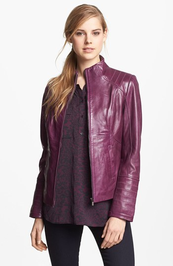 LaMarque Funnel Neck Leather Jacket 5