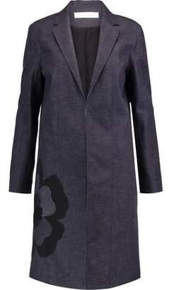 Victoria Beckham Victoria Appliquéd Textured-Denim Coat