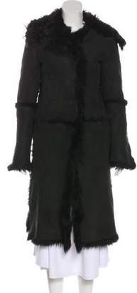 Gucci Suede Shearling Coat