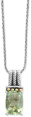 Effy Green Amethyst Pendant Necklace (6-1/6 ct. t.w.) in Sterling Silver and 18k Gold