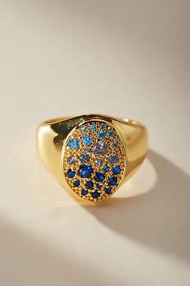 Anthropologie Studded Signet Ring