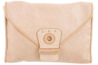 Longchamp Textured Leather Clutch