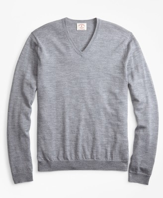 Brooks Brothers Merino Wool V-Neck Sweater