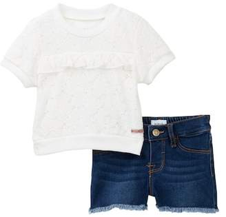 Hudson Jersey Lace Top with Shorts (Baby Girls)