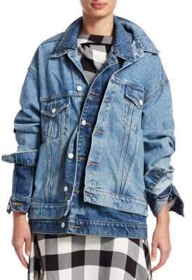 Monse Double Collar Denim Jacket
