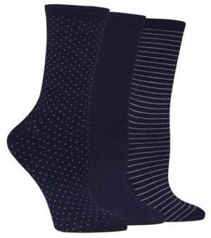Hot Sox Printed Three Pack Trouser Socks