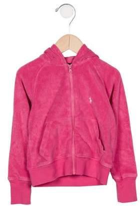 Ralph Lauren Girls' Terry Cloth Sweatshirt
