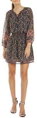 Dex Floral Lace-Up Fit Flare Dress
