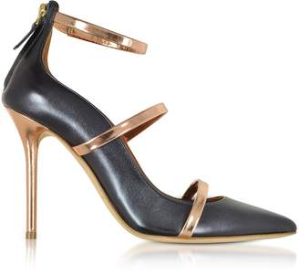 Malone Souliers By Roy Luwolt Robyn 100 Midnight Nappa Leather High Heel Pumps