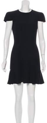 Alexander McQueen Crew Neck Sheath Dress