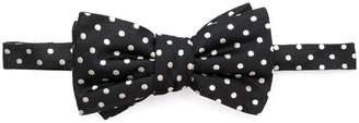 Alexander McQueen polka dot bow tie