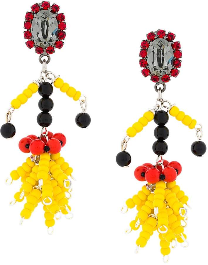 bead pendant earrings