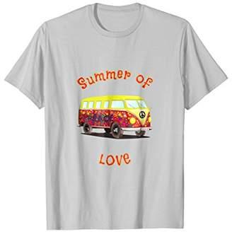 Summer of Love Flower Power Hippie Bus T-Shirt