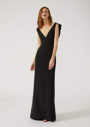 Emporio Armani Dress With Flounces At The Back