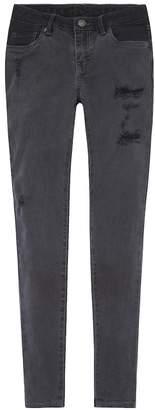 Levi's Levis Girls 7-16 710 Super Skinny Fit Black Jeans