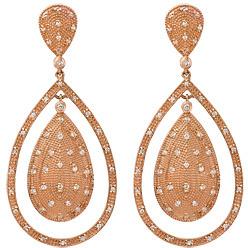 Daniela Swaebe Rose Gold Teardrop Diamond Earrings