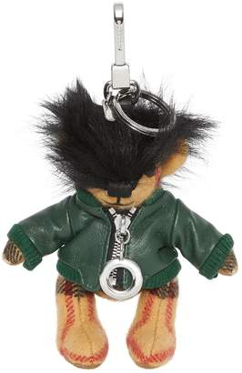 Burberry Thomas Bear Charm in Leather Jacket