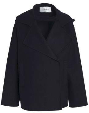 Valentino Double-Breasted Wool-Blend Felt Hooded Coat