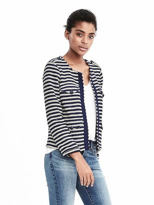 Sequin Striped Jacket $118 thestylecure.com