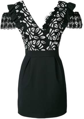 Pinko embroidered top dress