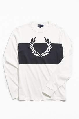 Fred Perry Blocked Laurel Wreath Long Sleeve Tee