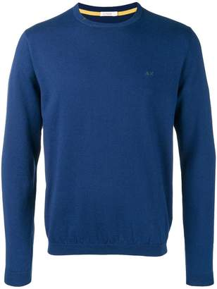 Sun 68 long-sleeve fitted sweater
