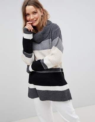 Lavand Stripe Roll Neck Sweater