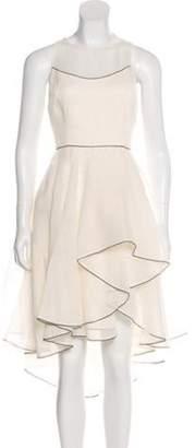 Halston Pleated Sleeveless Dress w/ Tags White Pleated Sleeveless Dress w/ Tags