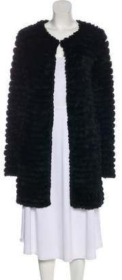 Adrienne Landau Fur Knee-Length Coat