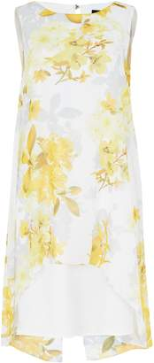 WallisWallis Ivory Floral Print Split Back Dress