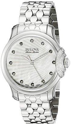 Bulova Accu Swiss Women's 63R147 Diamond Watch $439 thestylecure.com