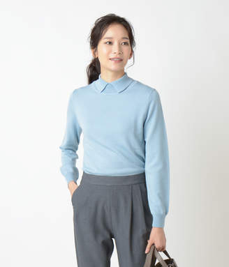 NEWYORKER women's 【手洗い可能】【Days Knit】リブ襟ニットプルオーバー