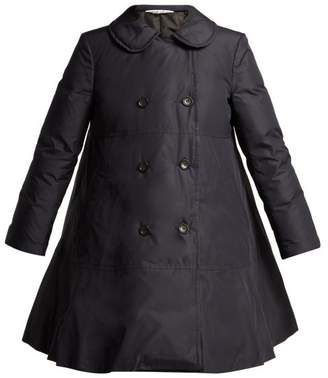 Comme des Garcons Flared Hem Down Padded Coat - Womens - Navy