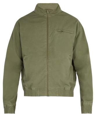 A.P.C. Stonewashed Cotton Bomber Jacket - Mens - Green