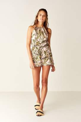 Suboo Playsuit - Pink Palm