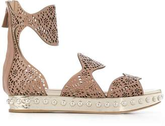 Giambattista Valli perforated strap sandals